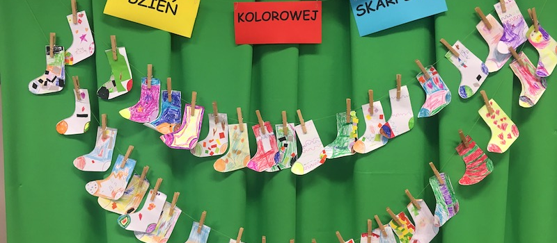 Dzień Kolorowej Skarpetki w naszym przedszkolu