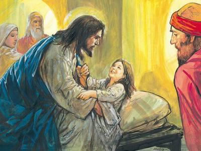Pan Jezus pomaga chorym