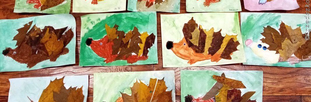 Zwierzęta jesienią- prace plastyczne